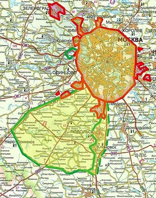 выписке карта границ москвы 2016 на карте конец света можно
